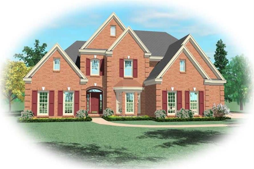 4-Bedroom, 2945 Sq Ft Traditional Home Plan - 170-2696 - Main Exterior