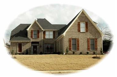 4-Bedroom, 3749 Sq Ft French House Plan - 170-2698 - Front Exterior