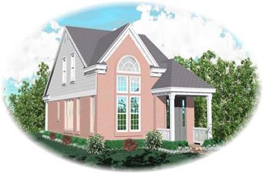 4-Bedroom, 1830 Sq Ft Coastal House Plan - 170-2699 - Front Exterior