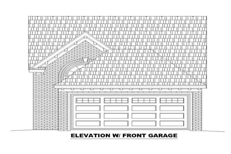 FRONT ELEVATION WITH OPTIONAL GARAGE