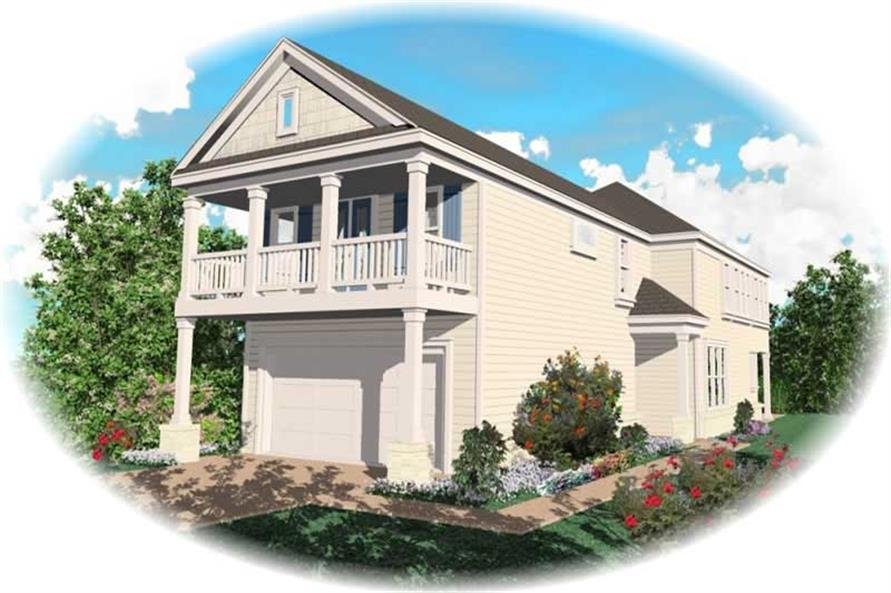 3-Bedroom, 2079 Sq Ft Coastal Home Plan - 170-2704 - Main Exterior
