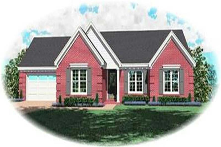 3-Bedroom, 1447 Sq Ft Contemporary Home Plan - 170-2705 - Main Exterior