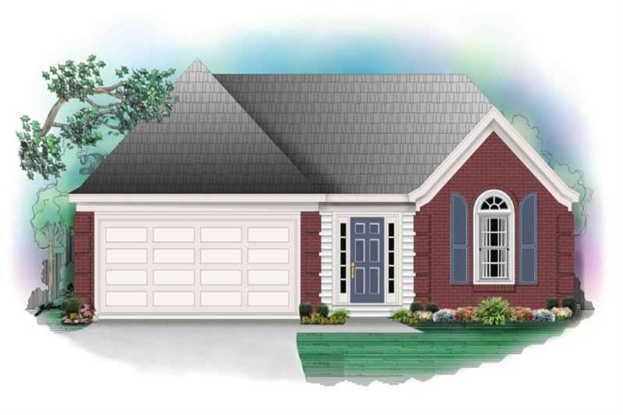 3-Bedroom, 1346 Sq Ft French Home Plan - 170-2706 - Main Exterior