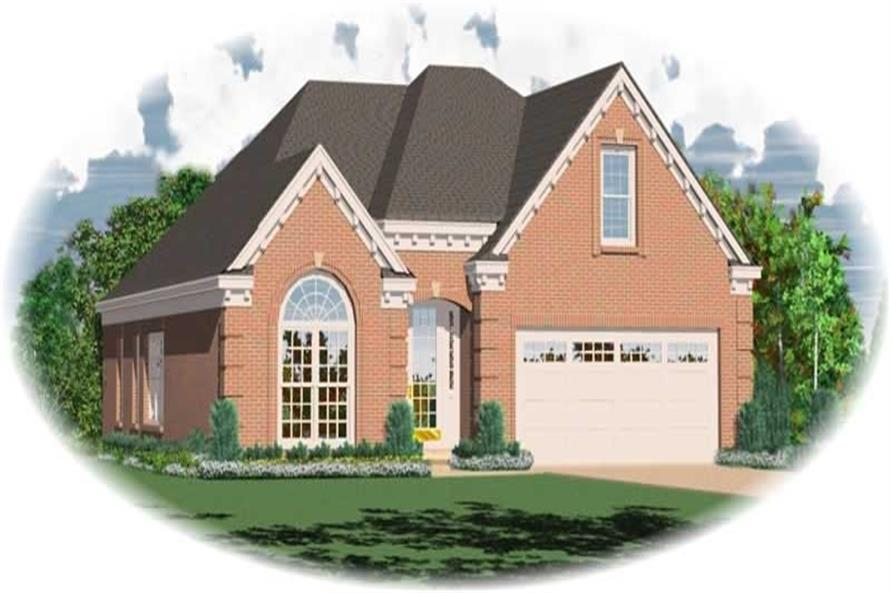 3-Bedroom, 1489 Sq Ft French House Plan - 170-2711 - Front Exterior