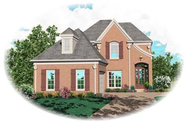 3-Bedroom, 2489 Sq Ft Country House Plan - 170-2712 - Front Exterior