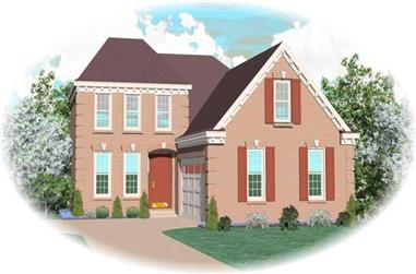 3-Bedroom, 2013 Sq Ft French Home Plan - 170-2723 - Main Exterior