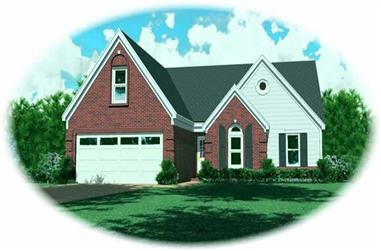 3-Bedroom, 1363 Sq Ft French House Plan - 170-2731 - Front Exterior