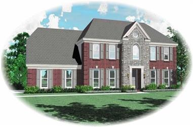 4-Bedroom, 3008 Sq Ft French Home Plan - 170-2736 - Main Exterior