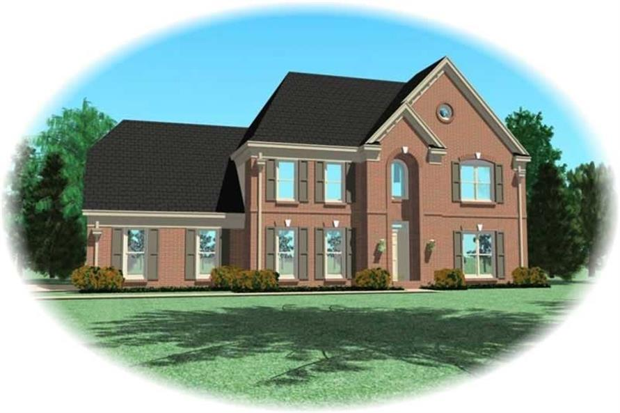 4-Bedroom, 2919 Sq Ft Traditional House Plan - 170-2737 - Front Exterior