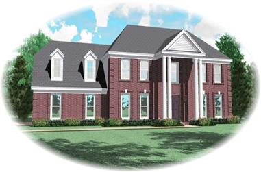 4-Bedroom, 2760 Sq Ft Colonial House Plan - 170-2738 - Front Exterior