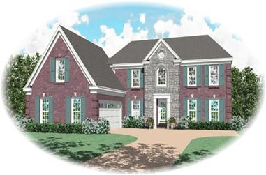 4-Bedroom, 2705 Sq Ft French House Plan - 170-2739 - Front Exterior