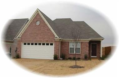 3-Bedroom, 1455 Sq Ft French House Plan - 170-2742 - Front Exterior