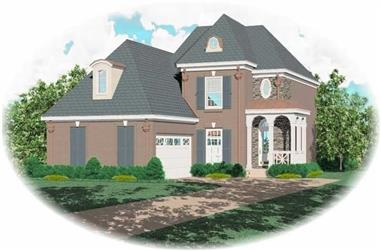 4-Bedroom, 2273 Sq Ft French Home Plan - 170-2748 - Main Exterior