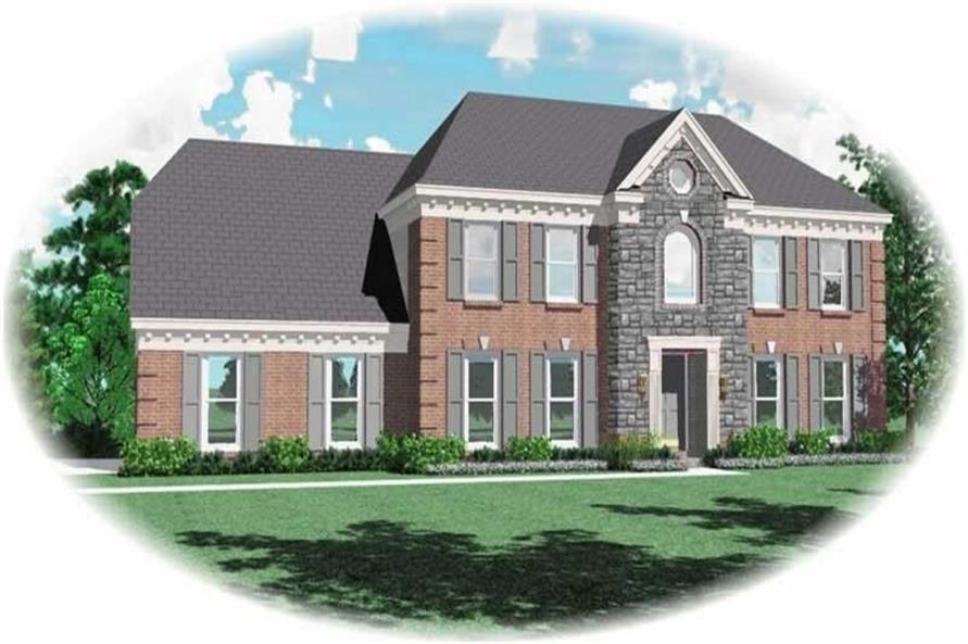 4-Bedroom, 2245 Sq Ft French House Plan - 170-2753 - Front Exterior