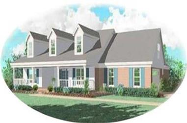 3-Bedroom, 1798 Sq Ft Country House Plan - 170-2757 - Front Exterior