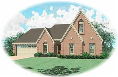 4-Bedroom, 2405 Sq Ft Contemporary House Plan - 170-2758 - Front Exterior