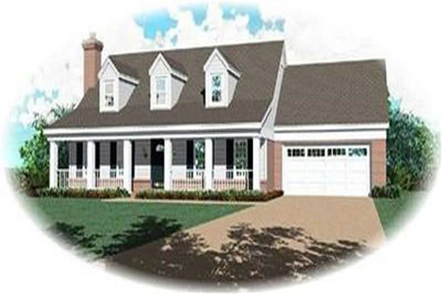 3-Bedroom, 2018 Sq Ft Cape Cod House Plan - 170-2760 - Front Exterior