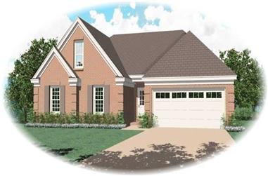 3-Bedroom, 1464 Sq Ft Small House Plans - 170-2764 - Main Exterior