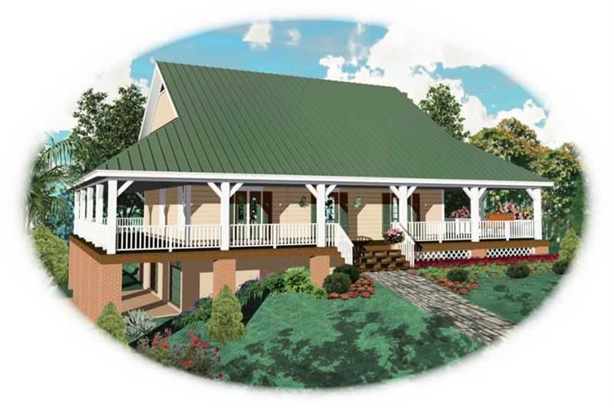 3-Bedroom, 2400 Sq Ft Country Home Plan - 170-2769 - Main Exterior