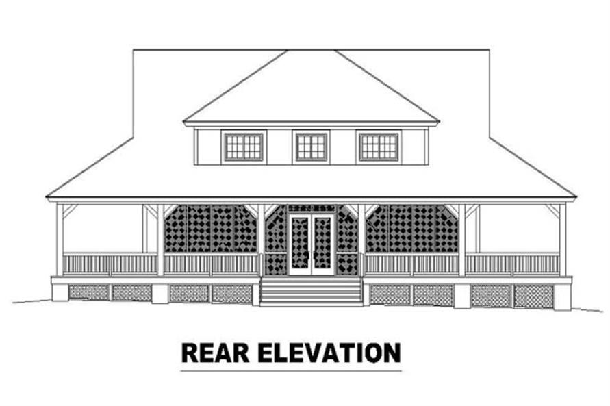 Home Plan Rear Elevation of this 3-Bedroom,2400 Sq Ft Plan -170-2769