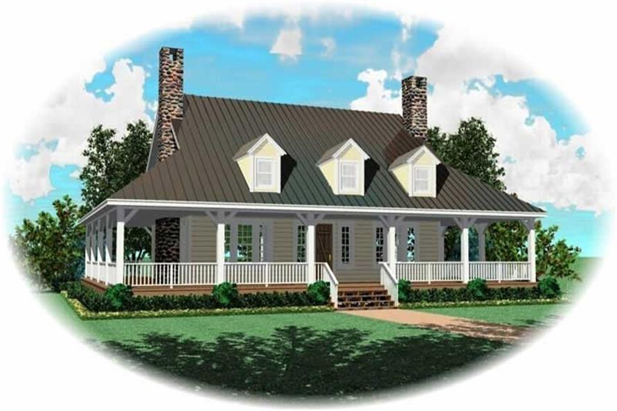 3-Bedroom, 2200 Sq Ft Country House Plan - 170-2776 - Front Exterior
