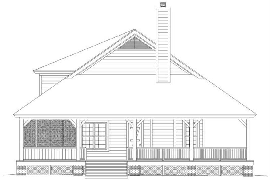 Home Plan Left Elevation of this 3-Bedroom,2200 Sq Ft Plan -170-2777
