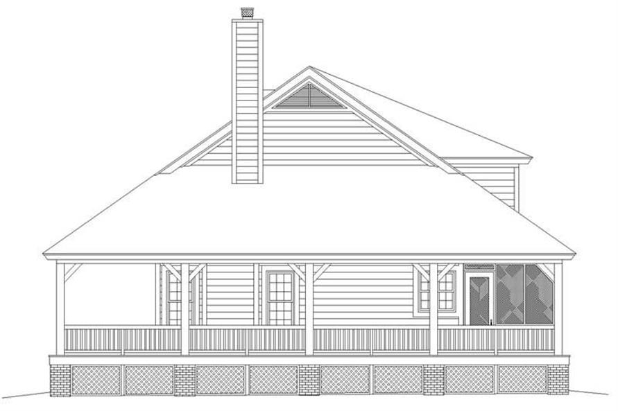 Home Plan Right Elevation of this 3-Bedroom,2200 Sq Ft Plan -170-2777