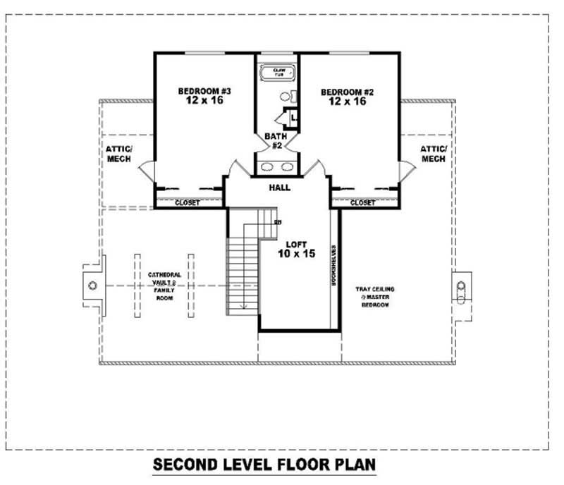 SECOND LEVEL FLOOR PLAN