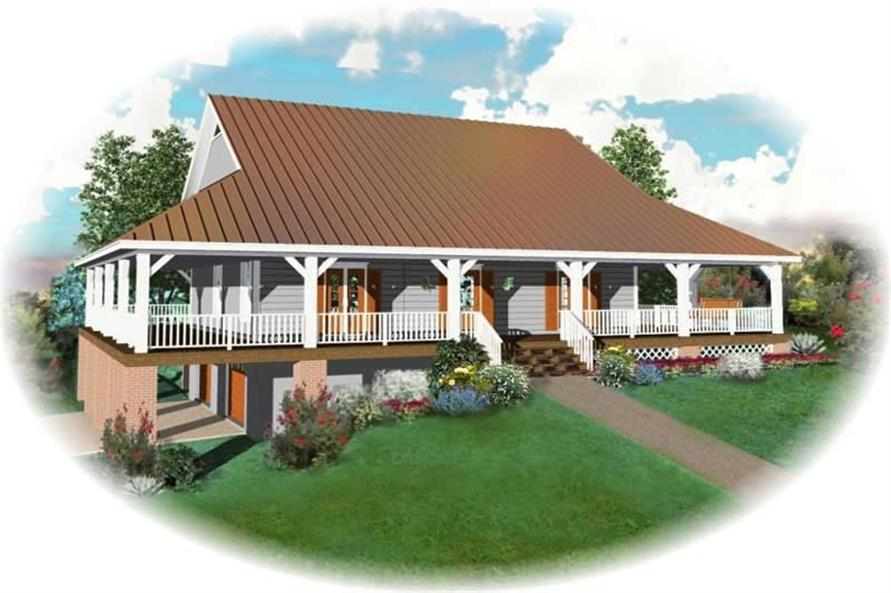 3-Bedroom, 2400 Sq Ft Country Home Plan - 170-2778 - Main Exterior