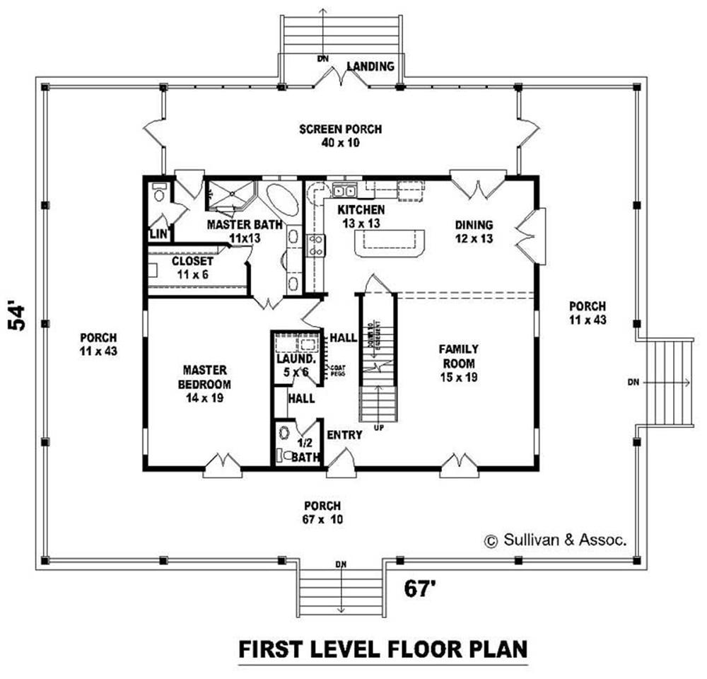 FIRST LEVEL FLOOR PLAN