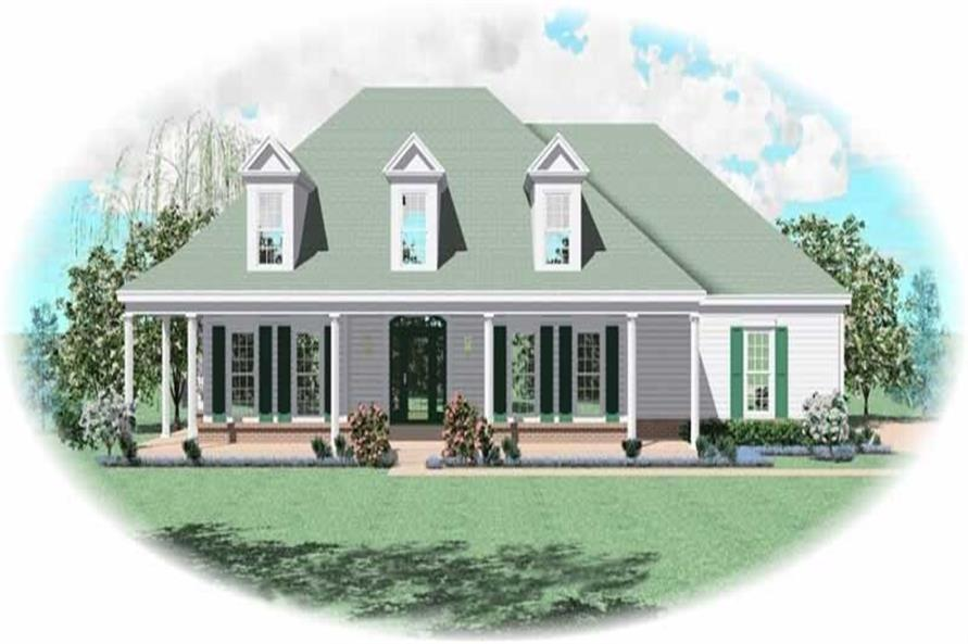 3-Bedroom, 2110 Sq Ft Country Home Plan - 170-2783 - Main Exterior