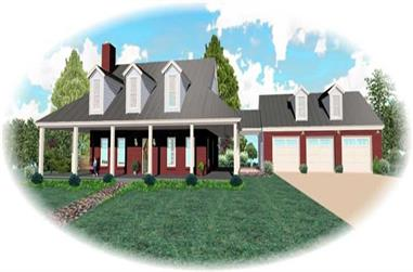 3-Bedroom, 2892 Sq Ft Country Home Plan - 170-2784 - Main Exterior