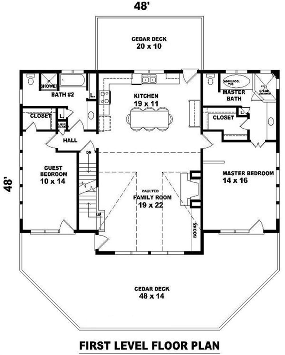 170-2796 house plan first floor