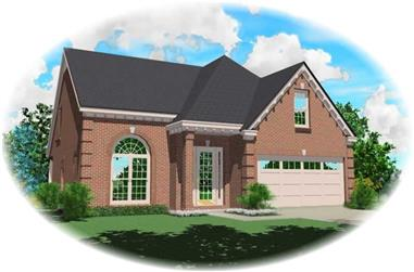 3-Bedroom, 2171 Sq Ft Traditional Home Plan - 170-2799 - Main Exterior