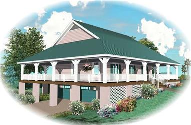 3-Bedroom, 2400 Sq Ft Country Home Plan - 170-2800 - Main Exterior