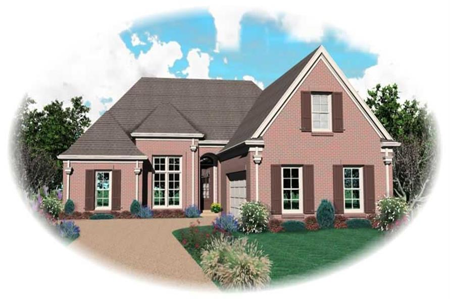 3-Bedroom, 2555 Sq Ft French House Plan - 170-2805 - Front Exterior