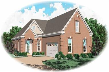 3-Bedroom, 2278 Sq Ft French Home Plan - 170-2810 - Main Exterior
