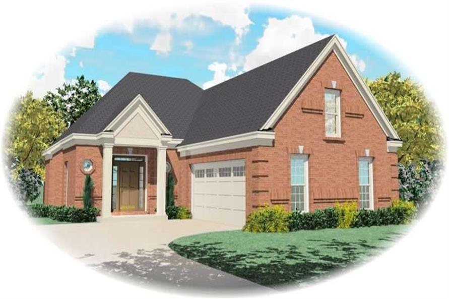 3-Bedroom, 2297 Sq Ft French Home Plan - 170-2812 - Main Exterior