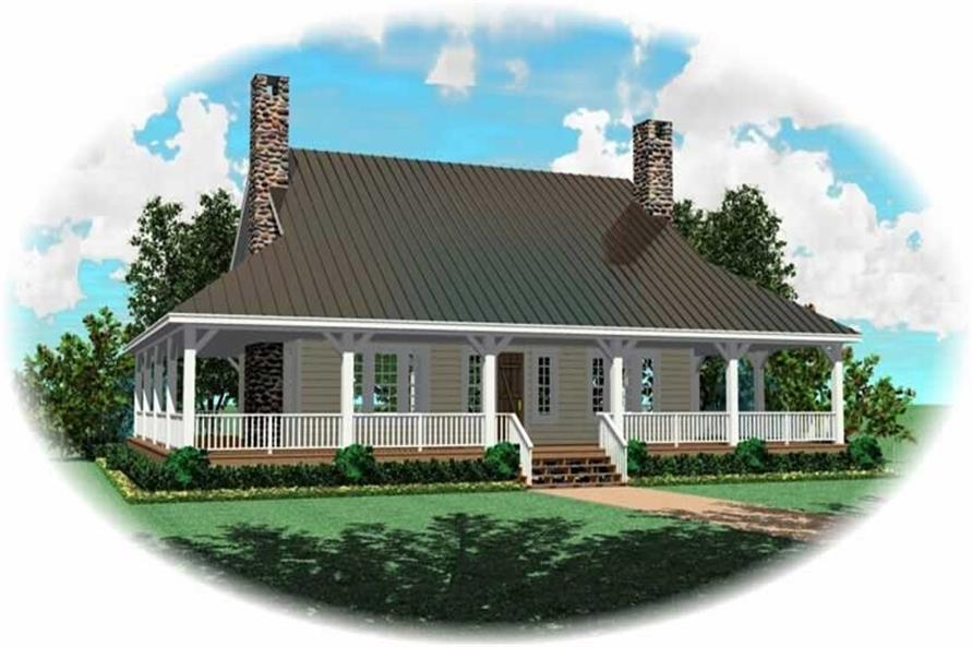 3-Bedroom, 2207 Sq Ft Country House Plan - 170-2815 - Front Exterior