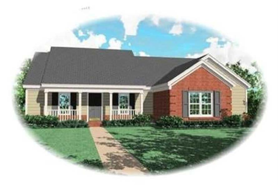 4-Bedroom, 1756 Sq Ft Country Home Plan - 170-2816 - Main Exterior