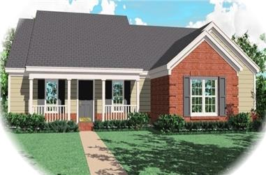 4-Bedroom, 1756 Sq Ft Ranch Home Plan - 170-2816 - Main Exterior