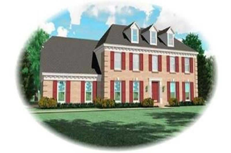 4-Bedroom, 2684 Sq Ft Colonial House Plan - 170-2819 - Front Exterior