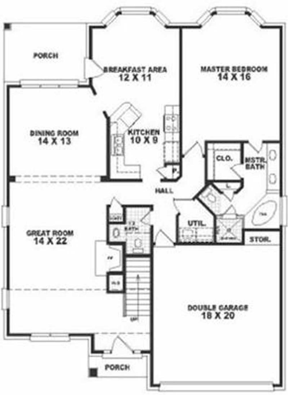 Large images for house plan 170 2820 for House design collection