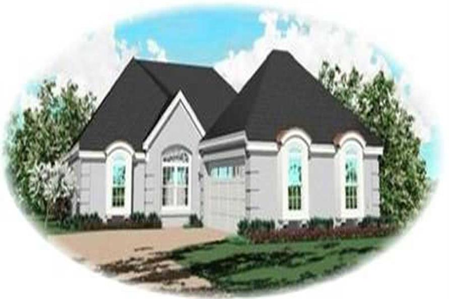 3-Bedroom, 1767 Sq Ft Contemporary House Plan - 170-2821 - Front Exterior