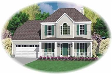 3-Bedroom, 1943 Sq Ft Country House Plan - 170-2827 - Front Exterior