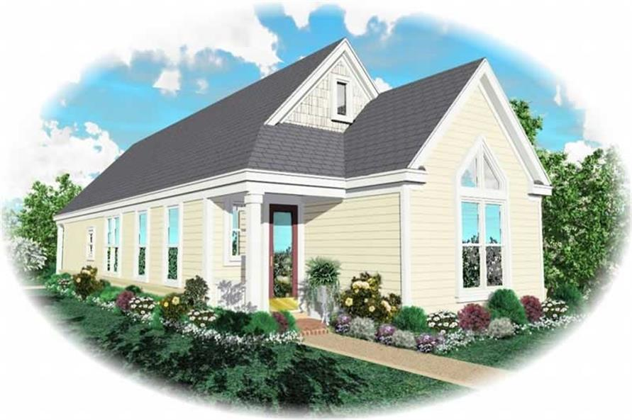 2-Bedroom, 1297 Sq Ft Small House Plans - 170-2829 - Front Exterior