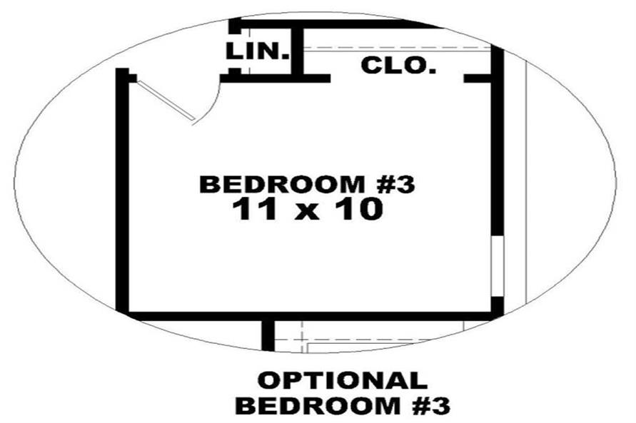 BEDROOM of this 2-Bedroom,1297 Sq Ft Plan -1297
