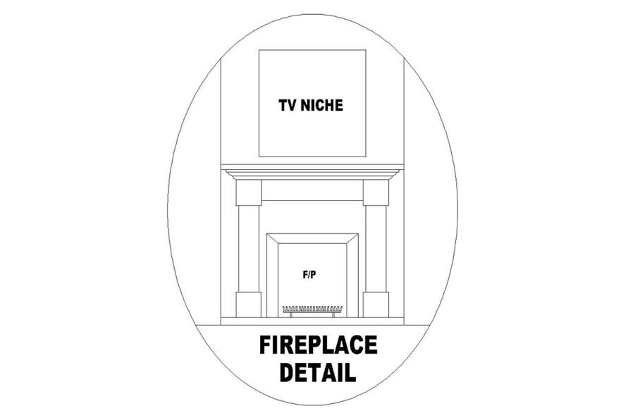 FIREPLACE of this 2-Bedroom,1297 Sq Ft Plan -1297