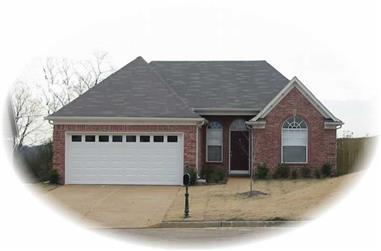 3-Bedroom, 1322 Sq Ft Ranch Home Plan - 170-2833 - Main Exterior
