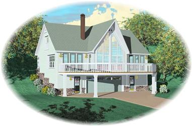 3-Bedroom, 1656 Sq Ft Country House Plan - 170-2836 - Front Exterior